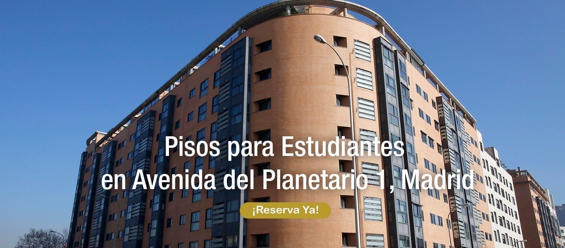 pisos para estudiantes en avenida del planetario madrid
